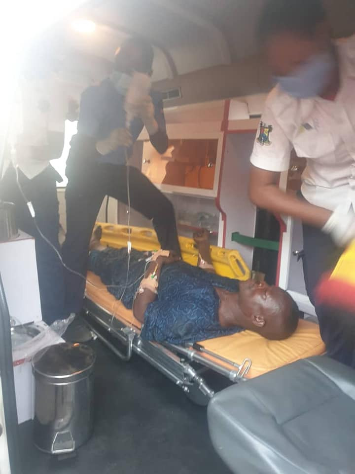 Three Injured As Truck Crashes Into Commercial Bus In Lagos- Pics
